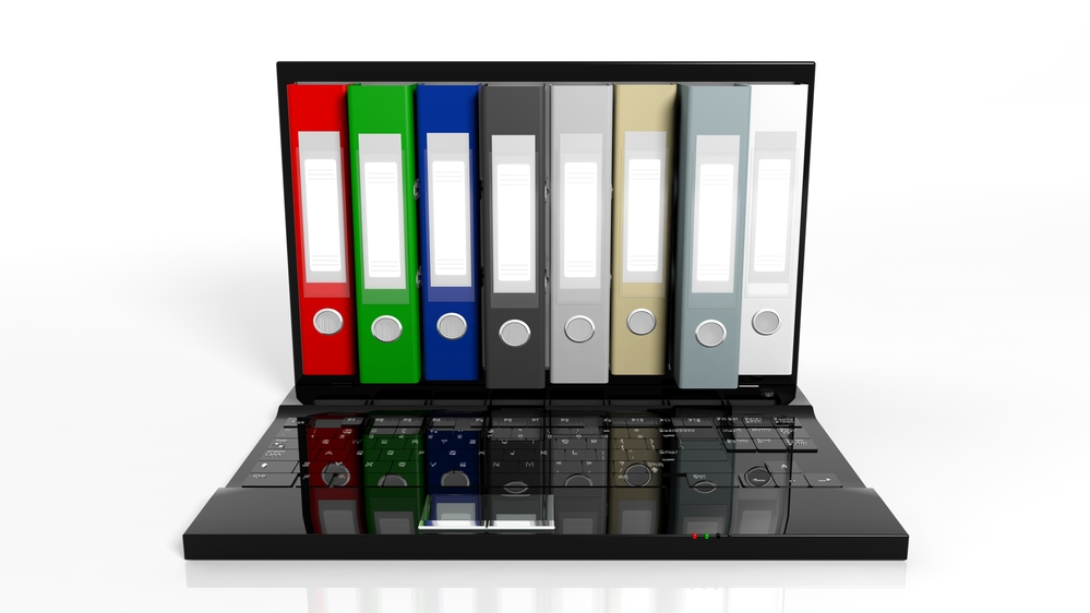 Folders displayed as a computer screen